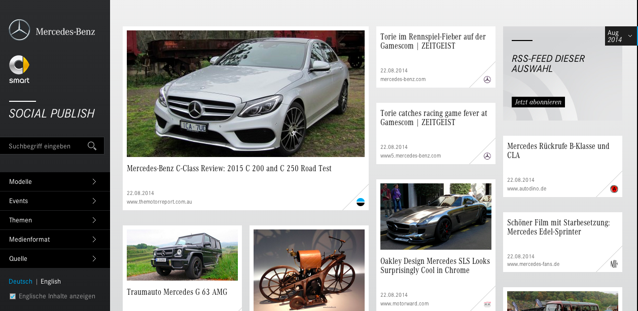 Mercedes Benz Social Publish
